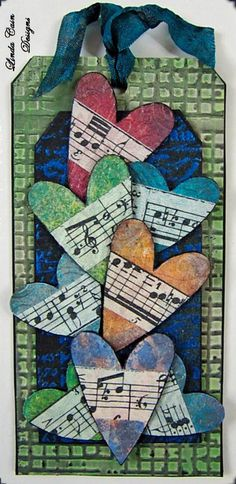 Like the idea of hearts with music notes wrapped around it.