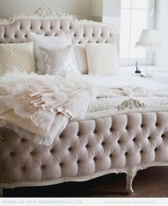Feeling like a queen bed.  Tufted bed frames. This bed frame will me in my future new home!