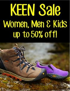 Keen Sale for Women, Men and Kids ~ up to 50% off!! #shoes