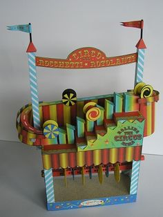Free download on this awesome paper automata - turn the crank & the wheels climb the stairs, then roll down the hill again. Video & template at the link.
