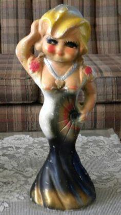 Mae West Carnival Chalkware Figurine Statue,