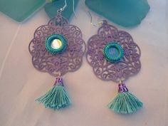 SALE GYPSY'S SPRING Earrings  Middle Eastern Jewelry by Nezihe1, $14.99