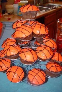 Basketball Birthday Party Cupcakes