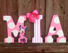 """minnie mouse bedroom ideas, already have the letters  can be changed through the years ! for my daughter """"mila"""""""