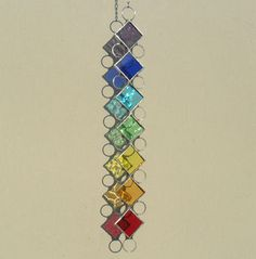 Chakra Suncatcher, Stained Glass Suncatcher. £12.00, via Etsy.