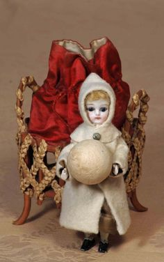german candy containers | GERMAN CANDY CONTAINER BISQUE DOLL WITH SNOW BALL : Lot 2
