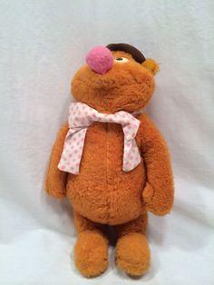 Rare Vintage 1976 Fisher Price Jim Hensen Muppet 851 Fozzie Bear Plush Toy #Fozzie #Muppets