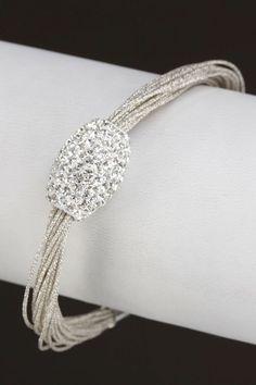 Sparkle Metallic Multi-Strand Bracelet.