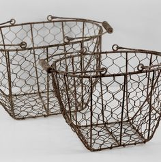 "Wire Baskets Set of Two    $22 (15"" & 12"")"