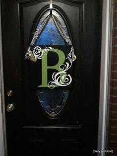 *monogram front door sign