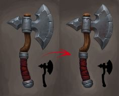 Handpainted wow style weapons polycount forum
