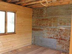 using rusty corrugated tin on walls