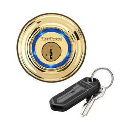 Bluetooth enabled deadbolt from Kwikset. Send an electronic key (eKey) to family, friends, or visitors who have a compatible smartphone so they can use their phone as a key too.