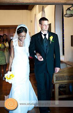 Gunnar + Ndidi on wedding day.