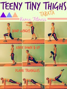 Teeny Tiny Thighs {Tabata Workout} by Kama Fitness