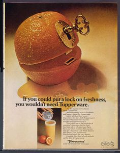 Vintage Tupperware ad