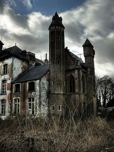 Creepy house.