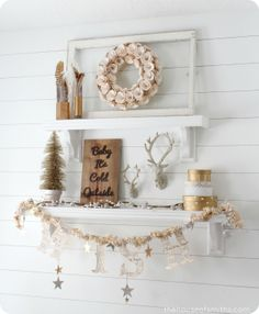 Modern, Whimsical, Gold Christmas Decor - Our Holiday Home Tour