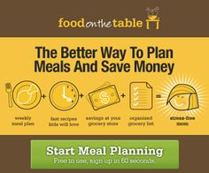 Meal Planning with Food on the Table! #dinnerideas