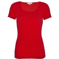 Kaliko Textured Top, Bright Red found on Polyvore