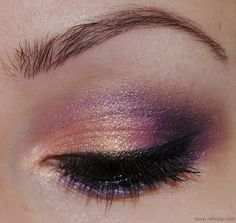 Peaches & Plums - 120 Eyeshadow Palette Eye Make Up Look -- quite lovely