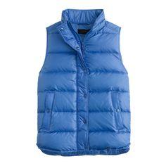 Shiny puffer vest : New Arrivals | J.Crew