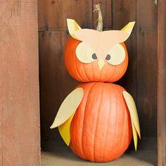 Quite a Hoot pumpkin decor   Photo by Reed Davis