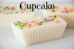 Cupcake Scented Wax Melt Tart - Buttercream Vanilla Soy Home confetti sprinkles Fragrance