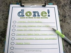 Need to get on top of your to do list? Itemize and prioritize with this FREEBIE printable from Clean Mama