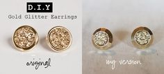 DIY sparkly earrings