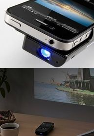 iphone projector. Watch movies and photo slides with your iphone on the wall