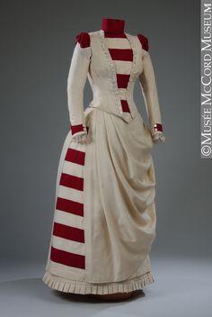 dress ca. 1887 via Musee McCord Museum