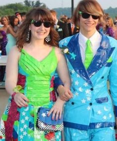 Duck® brand Duct Tape Stuck At Prom® Scholarship Contest Entrants Gallery jaron and kelly!!!