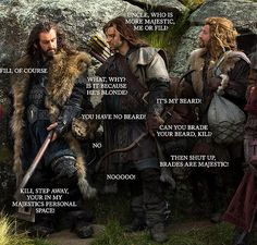 Thorin, Kili, and Fili