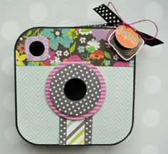 Instant Smiles featuring DCWV Honey Chic Stack  Gave me idea for making Instagram like cameras for a bulletin board