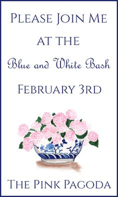 The Pink Pagoda: The Blue and White Bash + The Lowdown on Link Ups blue, pink pagoda, art, promot flyer