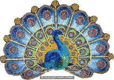 Peacock Tile-Mosaic