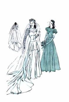 1940's Butterick 4420 Vintage Sewing Pattern Bridal by patternshop, $139.99