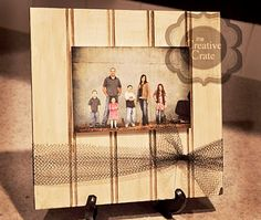 Tutorial - Quick and easy beadboard frame/photo display