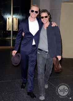 Michael Fassbender and James McAvoy...these two :)