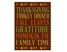 Free Thanksgiving Subway Print