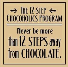 12 chocolate steps