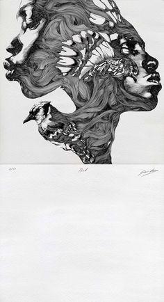 Bird/Faces - Gabriel Moreno