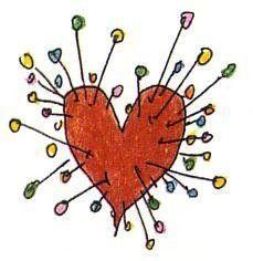 This might be my next piece... Tim Burton's Voodoo Girl pincushion heart