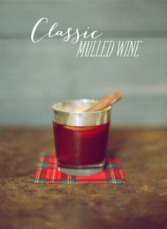 Mulled wine—just right for a fall wedding