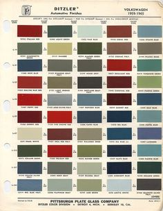 vw old paint finishes