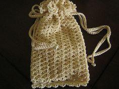 Bridal Shell Keepsake Pouch/Purse by Cylinda Mathews