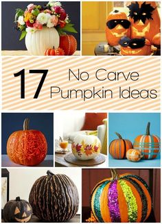 17 No Carve Pumpkin