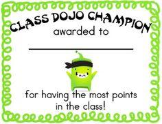 Free Class Dojo certificate