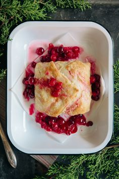 Puff Pastry Wrapped Brie with Cranberries- Perfect for a Holiday Appetizer!